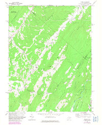 Download a high-resolution, GPS-compatible USGS topo map for Mozer, WV (1982 edition)