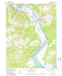 Download a high-resolution, GPS-compatible USGS topo map for New Haven, WV (1976 edition)