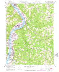 Download a high-resolution, GPS-compatible USGS topo map for New Martinsville, WV (1977 edition)