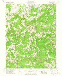 Download a high-resolution, GPS-compatible USGS topo map for Newburg, WV (1968 edition)