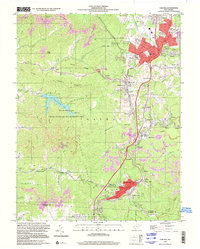Download a high-resolution, GPS-compatible USGS topo map for Oak Hill, WV (2001 edition)