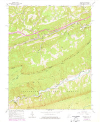 Download a high-resolution, GPS-compatible USGS topo map for Oakvale, WV (1978 edition)