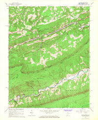 Download a high-resolution, GPS-compatible USGS topo map for Oakvale, WV (1966 edition)