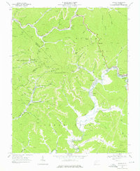 Download a high-resolution, GPS-compatible USGS topo map for Oceana, WV (1976 edition)