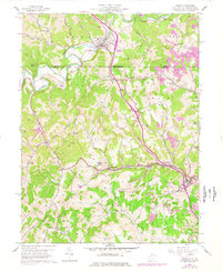 Download a high-resolution, GPS-compatible USGS topo map for Osage, WV (1977 edition)