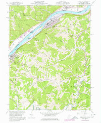 Download a high-resolution, GPS-compatible USGS topo map for Paden City, WV (1977 edition)