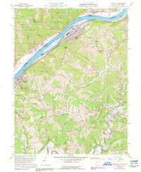 Download a high-resolution, GPS-compatible USGS topo map for Paden City, WV (1992 edition)