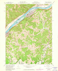 Download a high-resolution, GPS-compatible USGS topo map for Paden City, WV (1973 edition)
