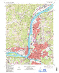 Download a high-resolution, GPS-compatible USGS topo map for Parkersburg, WV (1998 edition)