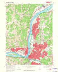 Download a high-resolution, GPS-compatible USGS topo map for Parkersburg, WV (1971 edition)