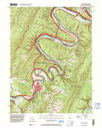 Download a high-resolution, GPS-compatible USGS topo map for Paw Paw, WV (2001 edition)
