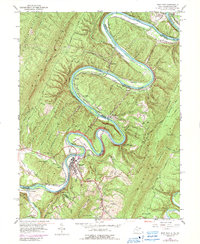 Download a high-resolution, GPS-compatible USGS topo map for Paw Paw, WV (1989 edition)