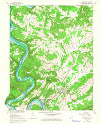 Download a high-resolution, GPS-compatible USGS topo map for Peterstown, WV (1966 edition)