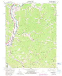 Download a high-resolution, GPS-compatible USGS topo map for Prichard, WV (1989 edition)