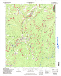 Download a high-resolution, GPS-compatible USGS topo map for Quinwood, WV (1998 edition)