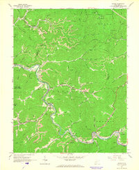 Download a high-resolution, GPS-compatible USGS topo map for Racine, WV (1966 edition)
