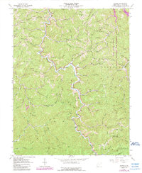 Download a high-resolution, GPS-compatible USGS topo map for Radnor, WV (1989 edition)