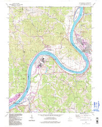 Download a high-resolution, GPS-compatible USGS topo map for Ravenswood, WV (1998 edition)