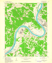 Download a high-resolution, GPS-compatible USGS topo map for Ravenswood, WV (1963 edition)