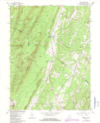 Download a high-resolution, GPS-compatible USGS topo map for Ridge, WV (1987 edition)