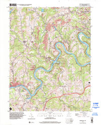 Download a high-resolution, GPS-compatible USGS topo map for Rivesville, WV (2002 edition)