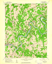 Download a high-resolution, GPS-compatible USGS topo map for Rivesville, WV (1962 edition)