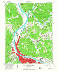 Download a high-resolution, GPS-compatible USGS topo map for Saint Albans, WV (1967 edition)