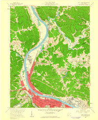 Download a high-resolution, GPS-compatible USGS topo map for Saint Albans, WV (1960 edition)