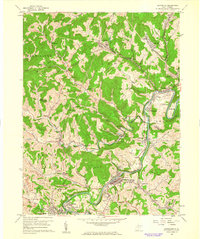 Download a high-resolution, GPS-compatible USGS topo map for Shinnston, WV (1962 edition)