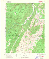 Download a high-resolution, GPS-compatible USGS topo map for Snowy Mountain, WV (1971 edition)