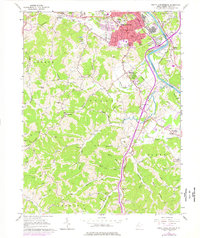 Download a high-resolution, GPS-compatible USGS topo map for South Parkersburg, WV (1976 edition)