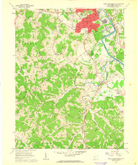 Download a high-resolution, GPS-compatible USGS topo map for South Parkersburg, WV (1963 edition)