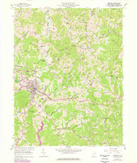 Download a high-resolution, GPS-compatible USGS topo map for Spencer, WV (1977 edition)