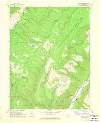 Download a high-resolution, GPS-compatible USGS topo map for Spruce Knob, WV (1973 edition)