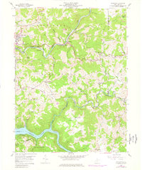 Download a high-resolution, GPS-compatible USGS topo map for Thornton, WV (1977 edition)