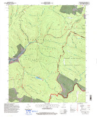 Download a high-resolution, GPS-compatible USGS topo map for Thornwood, WV (1998 edition)