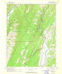 Download a high-resolution, GPS-compatible USGS topo map for Upper Tract, WV (1972 edition)