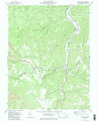 Download a high-resolution, GPS-compatible USGS topo map for Valley Head, WV (1985 edition)