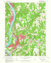 Download a high-resolution, GPS-compatible USGS topo map for Weirton, WV (1965 edition)