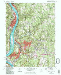 Download a high-resolution, GPS-compatible USGS topo map for Weirton, WV (1998 edition)