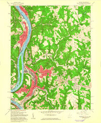 Download a high-resolution, GPS-compatible USGS topo map for Weirton, WV (1960 edition)