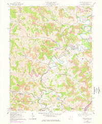 Download a high-resolution, GPS-compatible USGS topo map for West Milford, WV (1978 edition)