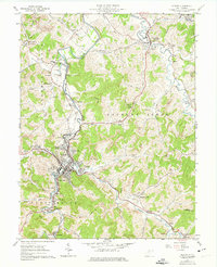 Download a high-resolution, GPS-compatible USGS topo map for Weston, WV (1974 edition)