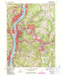 Download a high-resolution, GPS-compatible USGS topo map for Wheeling, WV (1984 edition)