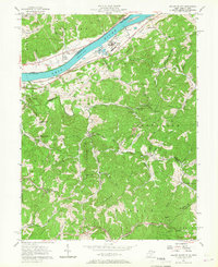 Download a high-resolution, GPS-compatible USGS topo map for Willow Island, WV (1967 edition)