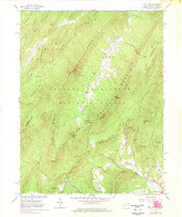 Download a high-resolution, GPS-compatible USGS topo map for Wolf Gap, WV (1976 edition)