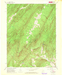 Download a high-resolution, GPS-compatible USGS topo map for Wolf Gap, WV (1968 edition)