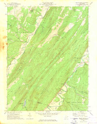 Download a high-resolution, GPS-compatible USGS topo map for Yellow Spring, WV (1974 edition)