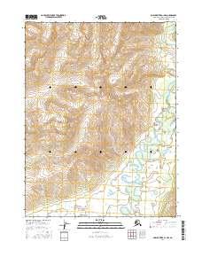 Topo map Ambler River A-1 NW Alaska