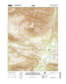 Topo map Ambler River A-1 SE Alaska